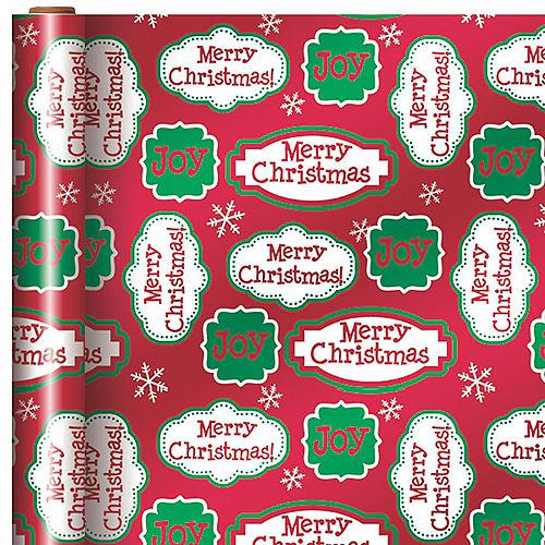 35042e746 Metallic Christmas Joy Gift Wrap