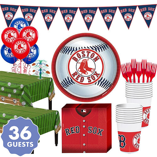 Super Boston Red Sox Party Kit For 36 Guests