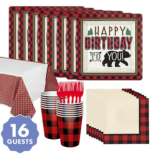 Little Lumberjack Birthday Party Kit For 16 Guests
