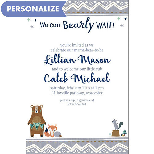 custom can bearly wait invitations