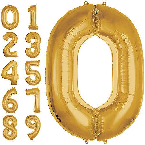 Jumbo Gold Number 0 Balloon