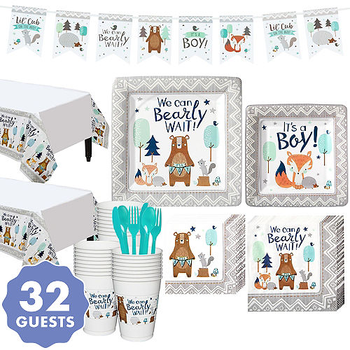 Can Bearly Wait Baby Shower Kit for 32 Guests