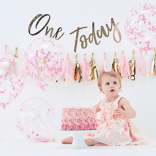 Ginger Ray Baby Girl 1st Birthday Cake Smash Kit 15pc