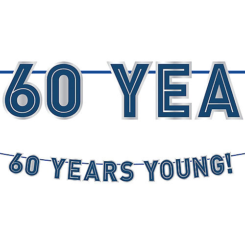 Vintage Happy Birthday 60th Letter Banner