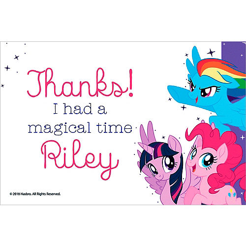 Custom My Little Pony Thank You Notes