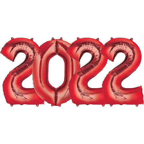 Giant Red 2022 Number Balloon Kit