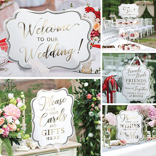 90f2879333 White   Gold Wedding Scroll Signs 5ct