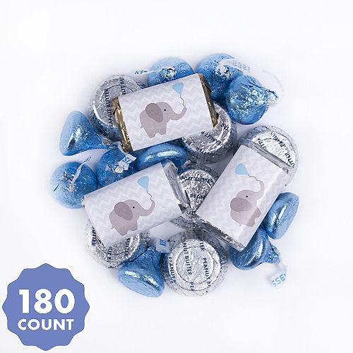 a4fef1e5f0 Blue Elephant Baby Shower Hershey s Chocolate Mix 180pc