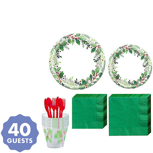 Christmas Plates Cups Napkins Tablecloths Christmas Tableware Themes Party City
