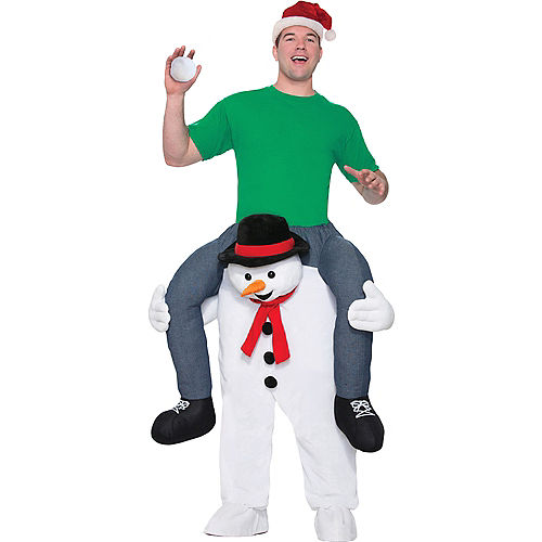 Adult Snowman Ride On Costume