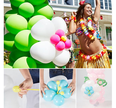Luau Balloon Arch How To