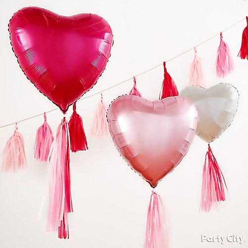 Balloon Tassel Backdrop Idea