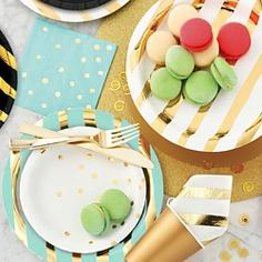 Metallic Striped Tableware in 5 colors