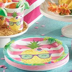Striped Tropical Party