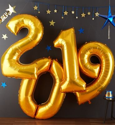2019 Happy New Year's Eve Balloons & Balloon Decorations ...