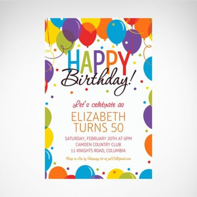 Custom Invitations - Personalized Invitations | Party City