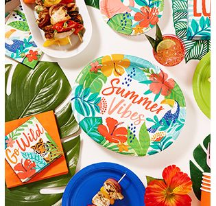 Christmas In July Party Supplies.Hawaiian Luau Party Supplies Decorations Party City