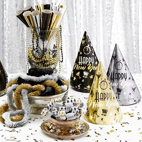 Black, Silver & Gold New Year's Eve Theme Party