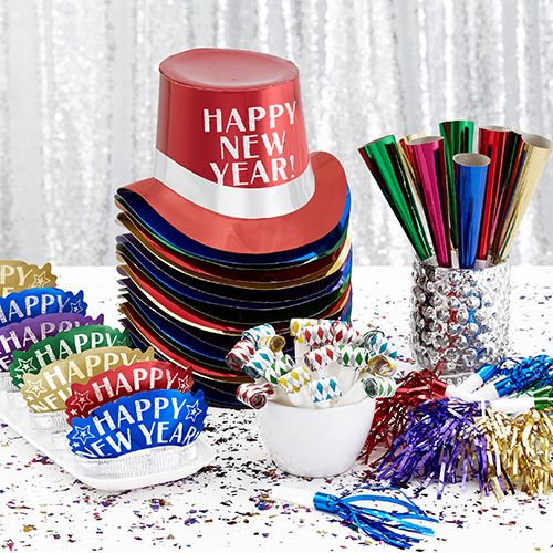 New Year's Colorful Brights Theme Party Supplies